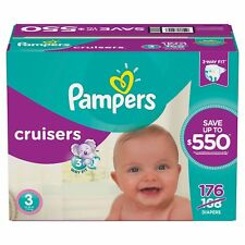 Pampers Cruisers Baby Diapers Sizes 3, 4, 5, 6 Free Shipping! No Tax!