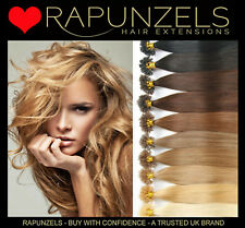 """16"""" pre bonded keratin u tips hair extensions 1g or 0.5g double drawn Rapunzels"""