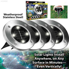 F73D Disk Lights Solar Powered LED Outdoor Lights waterproof Path lamp