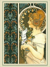 Póster, lienzo o cuadro en metacrilato The Feather, decorative - Alfons Mucha