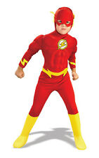 Kids Boys Childs Deluxe The Flash Fancy Dress Costume Outfit Rubies Superhero