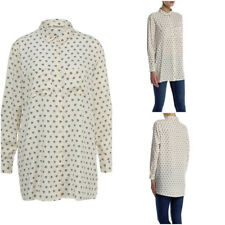Women's Brave Soul Long Sleeve Longer Length Diamond Print Shirt RRP £19.99