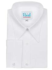 Revival White Spearpoint Collar 1930s 40s Vintage Style All Cotton Shirt