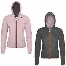 K-WAY LILY PLUS DOUBLE giacca reverse KWAY BAMBINA meteo imperm. leggera A74pqky