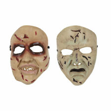 Adult Halloween Horror Smiling or Normal Face Mask PVC Fancy Dress Accessory