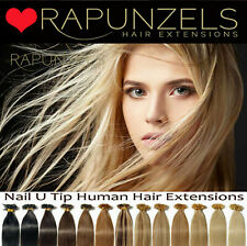 """20"""" nail u tip keratin hair extensions pre bonded 1g or 0.5g double drawn AAAA"""