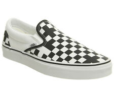 Mens Vans Vans Classic Slip On Trainers GEOMETRIC BLACK TRUE WHITE EXCLUSIVE Tra