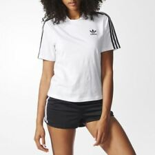 Adidas Womens Originals Collared Polo Cotton T-Shirt Short Sleeve White (BJ8192)