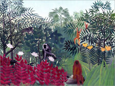 Poster, stampa su tela o vetro acrilico Tropical Forest with ... - H. Rousseau