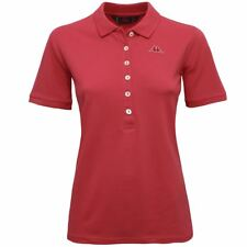 ROBE DI KAPPA POLO DONNA mc.corta CRISTY 6bottoni Rosso Bacca New Nuovo X5Ykxvtl