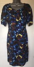 New BODEN Midnight Blue Floral Print Pleat Neck Shift Dress Sizes 8-14 RRP £89
