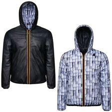 K-WAY PELLE JACQUES KL AIR PADDED DOUBLE giacca reverse KWAY UOMO Cold New 908wc