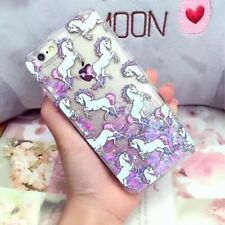 Unicorn Liquid Cuore Glitter Custodia Retro Rigido per Samsung Galaxy S8 S7 Edge
