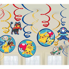 Pokemon Go party decorations - hanging swirls - pk 6 - 12