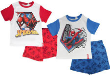Marvel Spiderman Boys Summer Pajamas Short Pyjamas PJ Set Sleepwear