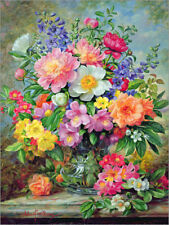 Poster / Toile / Tableau verre acrylique June Flowers in Radiance - A. Williams