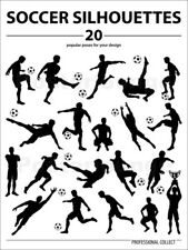 Poster / Toile / Tableau verre acrylique Silhouettes Soccer Players - TAlex