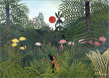 Póster, lienzo o cuadro en metacrilato Jungle landscape with ... - H. Rousseau