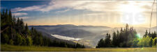 Poster / Toile / Tableau verre acrylique Sunset at Titisee - Siegfried Heinrich