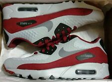 NIKE AIR MAX 90 ULTRA ESSENTIAL MENs RUNNING OFF WHITE - GREY - TEAM RED NEW US