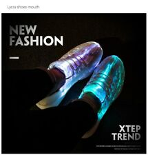 Led Fiber Optic light up Shoes USB Recharge glowing Sneakers for girls boys men