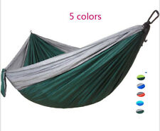 Double Hammock Two Person Outdoor Swing Fabric Canvas Camping Hanging Bed