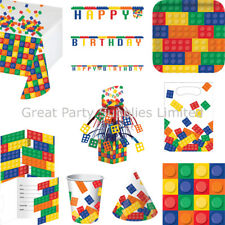 Blocks Party Supplies BRAND NEW - tableware, balloons, banner etc - Free P&P