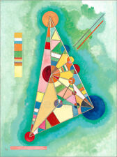 Póster, lienzo o cuadro en metacrilato Stained in Triangle - Wassily Kandinsky