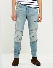 G-STAR RAW - Jeans Denim Casual Uomo Motac Deconstructed 3D Slim Blu Con Strappi