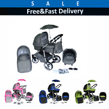 Baby Pram Complete Travel System Pushchair 3in1 Car Seat Carrycot Buggy Newborn!