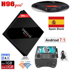 H96 Pro Plus Andriod 7.1 TV Box 3GB+32GB Amlogic S912 Octa Core 4K DDR3+ Teclado