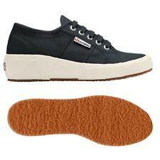 SUPERGA Sottop:4cm 2905 COTW linea Up And down Scarpe Zeppa DONNA Blu Nuove 933z
