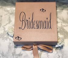 Luxury Rose Gold Gift Box rose gold box gift boxes with ribbons Bridesmaid Gifts