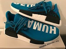 ADIDAS NMD HUMAN RACE HU PHARRELL PW UK 4 5 6 7 8 9 10 11 12 BLUE WHITE BOOST
