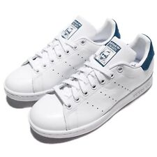 adidas Originals Stan Smith White Blue Leather Men Classic Shoes Sneakers BZ0483