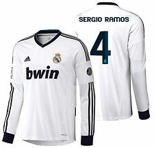 Adidas Sergio Ramos Real Madrid Manga Larga Home Jersey 2012/13