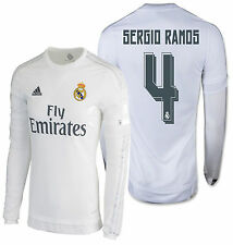 Adidas Sergio Ramos Real Madrid Manches Longues Maillot Domicile 2015/16