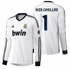 Adidas Iker Casillas Real Madrid Manches Longues Maillot Domicile 2012/13