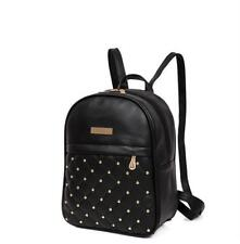 Women's Casual Shoulder Bags Travel Bead Backpack PU Leather Teen School Bag New