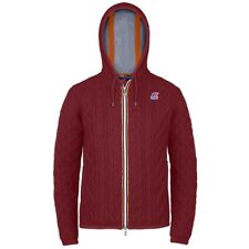 K-WAY KWAY LILY WOOL IRELAND GIACCA DONNA CORTA CAPPUCCIO Aut/Inv Rosso WNRbotiy