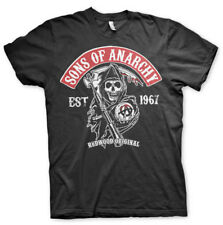 T-SHIRT SONS OF ANARCHY SOA Redwood NEUF Taille M XXL 2XL motard biker noir