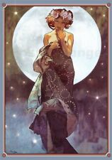 Póster, lienzo o cuadro en metacrilato The full moon, adaptation - Alfons Mucha