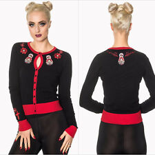 Banned Dynasty Cardigan Classic Rockabilly 1950's Hotrod Retro Vintage Pin Up