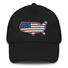USA Flag Hat Patriotic Dad Cap Red White Blue American Stars and Stripes Gift