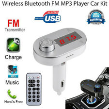 Bluetooth Inalámbrico Transmisor de Fm MP3 Reproductor Manos Libres Kit USB Tf
