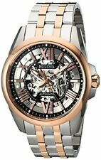 Bulova Corporation Mens Automatic Stainless Steel Casual Watch Color