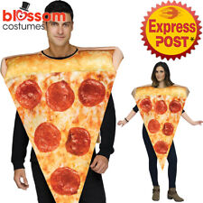 Adult Comedy Pepperoni Pizza Slice Fancy Dress Costume Tabard Funny Novelty Food