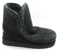 "MOU: STIVALI ""ESKIMO 18"" IN SHEARLING NERO 20MM"