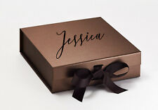 Luxury Bronze Gift Box Bronze box gift boxes with ribbons Bridesmaid Gifts