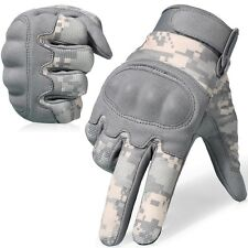ACU Camo Hard Knuckle Full Finger Tactical Gloves Airsoft Paintball Hunting Army